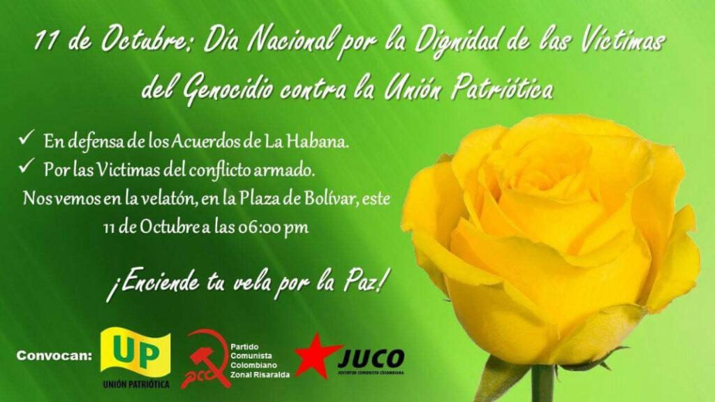 Día contra el genocidio de la Unión Patriótica