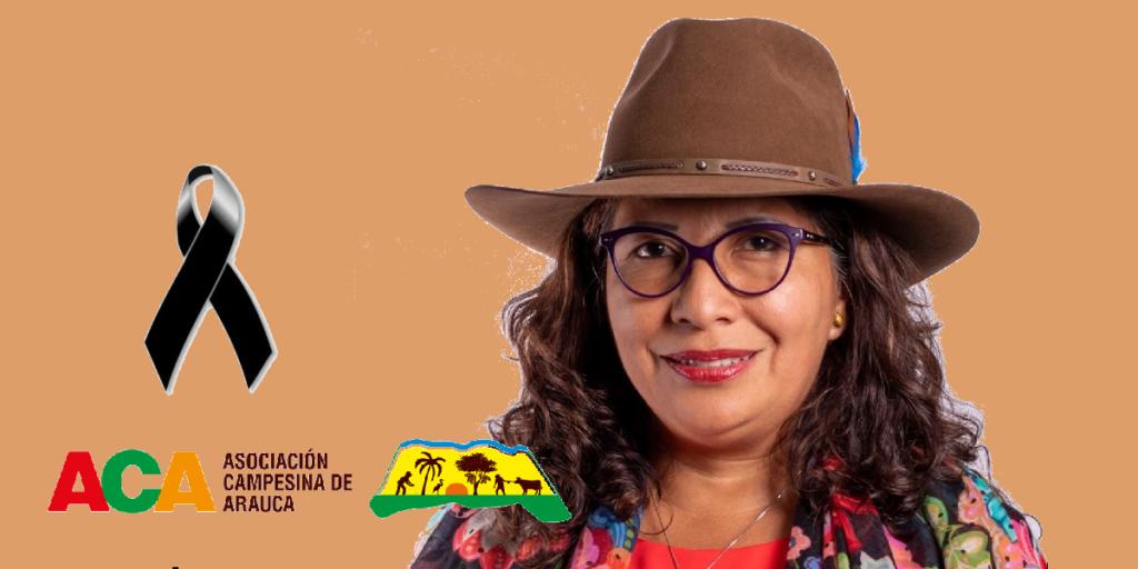 Luz Perly Córdoba, vivepresidenta de la Asociación Campesina de Arauca
